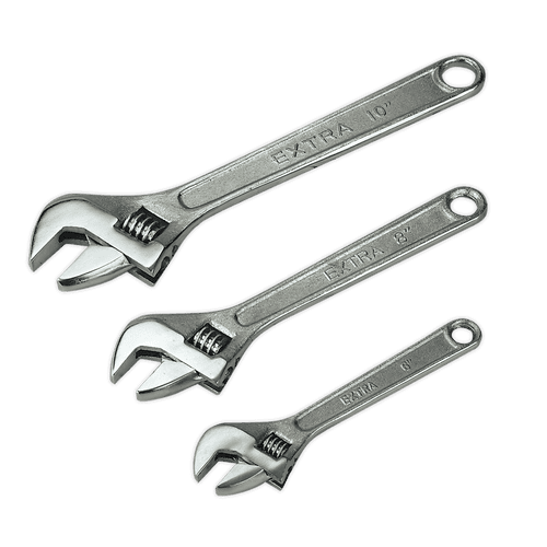 Adjustable Wrench Set 3pc 150, 200 & 250mm